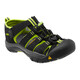 Keen Newport H2 Sandals Children Black/Lime Green